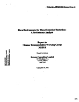 Fiscal Instruments for Diesel Emissions Reduction: A Preliminary Analysis