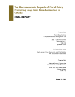 The Macroeconomic Impacts of Fiscal Policy Promoting Long-term Decarbonisation in Canada-Final Report