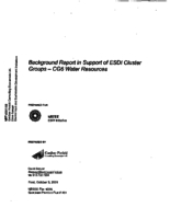 Background Report in Support of ESDI Cluster Groups - CG6 Water Resources