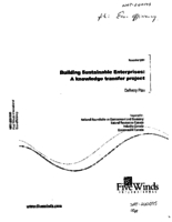Building Sustainable Enterprises: A Knowledge Transfer Project - Delivery Plan