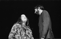 Cass Elliot and Denny Doherty in performance with The Mamas and the Papas at Maple Leaf Gardens