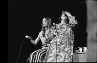 Michelle Phillips and Cass Elliot  in performance with The Mamas and the Papas at Maple Leaf Gardens