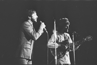Denny Doherty and John Phillips in performance with The Mamas and the Papas at Maple Leaf Gardens