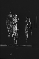 Cass Elliot, Michelle Phillips, Denny Doherty, and John Phillips (left to right) in performance as The Mamas and the Papas at Maple Leaf Gardens