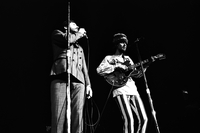Denny Doherty (left) and John Phillips (right) in performance with The Mamas and the Papas at Maple Leaf Gardens