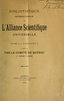 Bibliothèque internationale de l'Alliance scientifique universelle