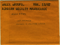 Greek Groups : Achaian Society masquerade