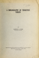 The bibliography of Thorstein Veblen