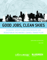 Good Jobs, Clean Skies: Economic Growth and Greenhouse Gas Reduction in the Mayors' Council Transit Plan