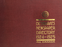 "Desbarats ""All Canada"" newspaper directory, 1924-1925"