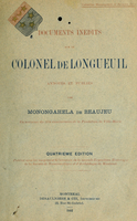 Documents inédits sur le colonel de Longueuil