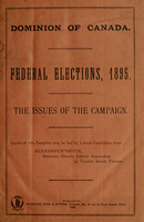 Federal elections, 1895 : the issues of the campaign