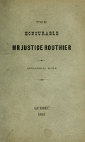 Honorable Mr. Justice Routhier