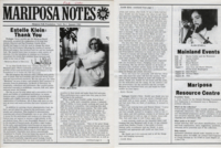 2 pages from Mariposa Notes vol. 1, no. 1 : Estelle Klein : Thank you
