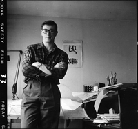 Allan Fleming in his studio