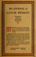 The journal of Louis Hémon