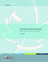 Saving the Green Economy: Ontario's Green Energy Act and the WTO