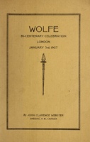 Wolfe : bi-centenary celebration, London, January 3rd, 1927