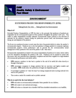 Extended Producer Responsibility: CAW Health and Safety Fact Sheet