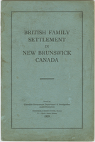 British family settlement in New Brunswick Canada - 1929