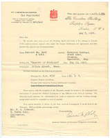 Letter from Canada's assistant director of European emigration - 7 May 1926