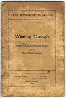 Winning through: Stories of life on Canadian farms told by new British settlers - 1929