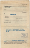 Land sale agreement - 12 January 1927