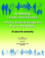 Rethinking Canada's Auto Industry: A Policy Vision to Escape the Race to the Bottom
