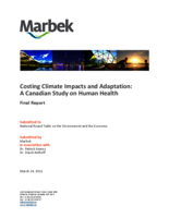 Costing Climate Impacts and Adaptation: A Canadian Study on Human Health