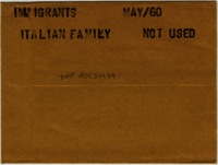 Immigrants : Italian family [not used]