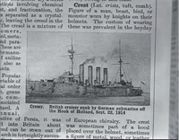 "Boats, ""Cressy"" : British cruiser"
