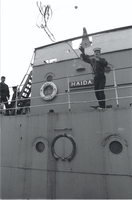 "Ship, ""Haida"" : Sea Cadets help move ""Haida"""