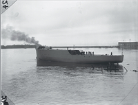 "Boats, Minesweeper takes to water & H.M.S. ""Goderich"""