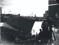 "Boats, launching of H.M.S. ""Friendship"""