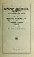 Records of Niagara