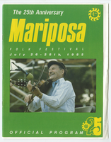 Mariposa Folk Festival 1985 program
