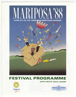 Mariposa Folk Festival 1988 program