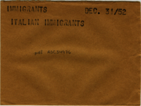 Immigrants : Italian immigrants