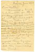 Letter to Mrs. Stepler from Gordon Stepler, June 23rd 1917