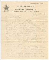 Letter to Mrs. Stepler from Gordon Stepler, July 1st 1917