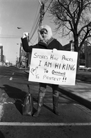 Food Prices Protest : Woman Hitchhiking to Ottawa [not used]