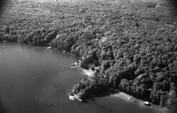 Footes Bay, Ont. : Aerial of area in which kidnap victim Mrs. H. Nelles was found
