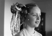Hairstyles : Child models - Christmas styles. Estelle Wideman kids.