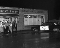 Haliburton, Ont. : Bank of Montreal robbery, Manager Eric Mc Connell killed