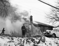 Hamilton, Ont. : Children of Mrs. T. Maloney rescued when home burned