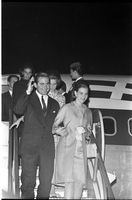 Greek Royal Family : King Constantine and Queen Anne Marie : Arrival at Airport