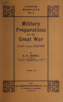Military preparations for the Great War : fact versus fiction
