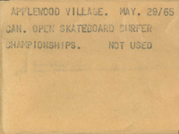 Applewood Village : Can. Open Skateboard Surfer Championships [not used]