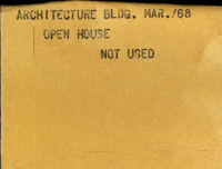 Architecture Bldg. : Open House [not used]