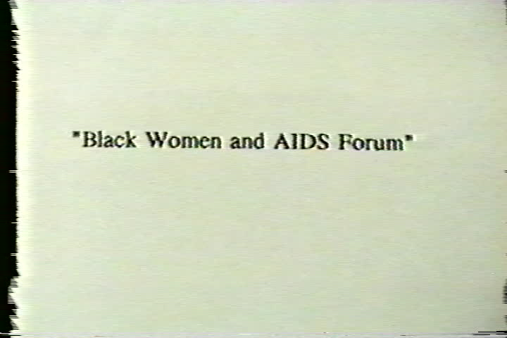 Black women and AIDS forum